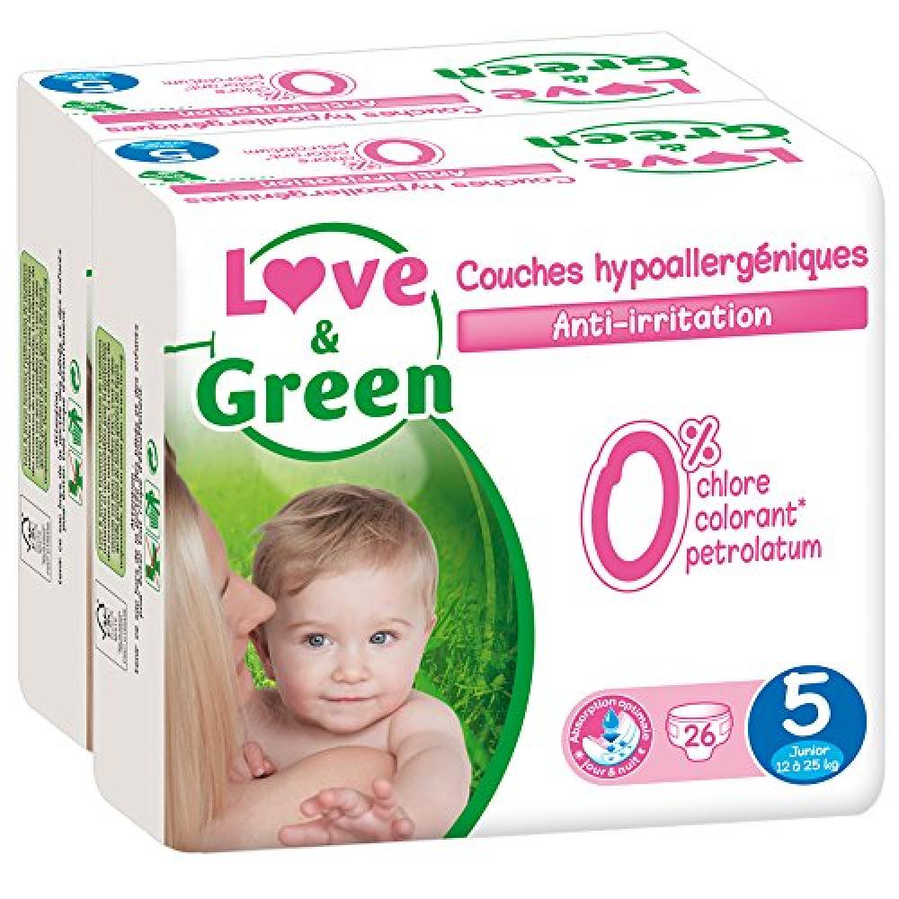 Love and Green Ecological Nappies Size 5 26 Pack