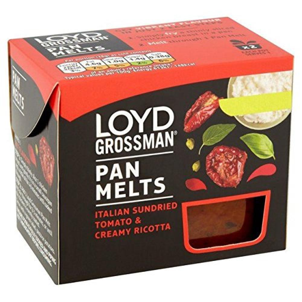 Loyd Grossman Pan Melts Italian Sundried Tomato and Creamy Ricotta 38g x 2
