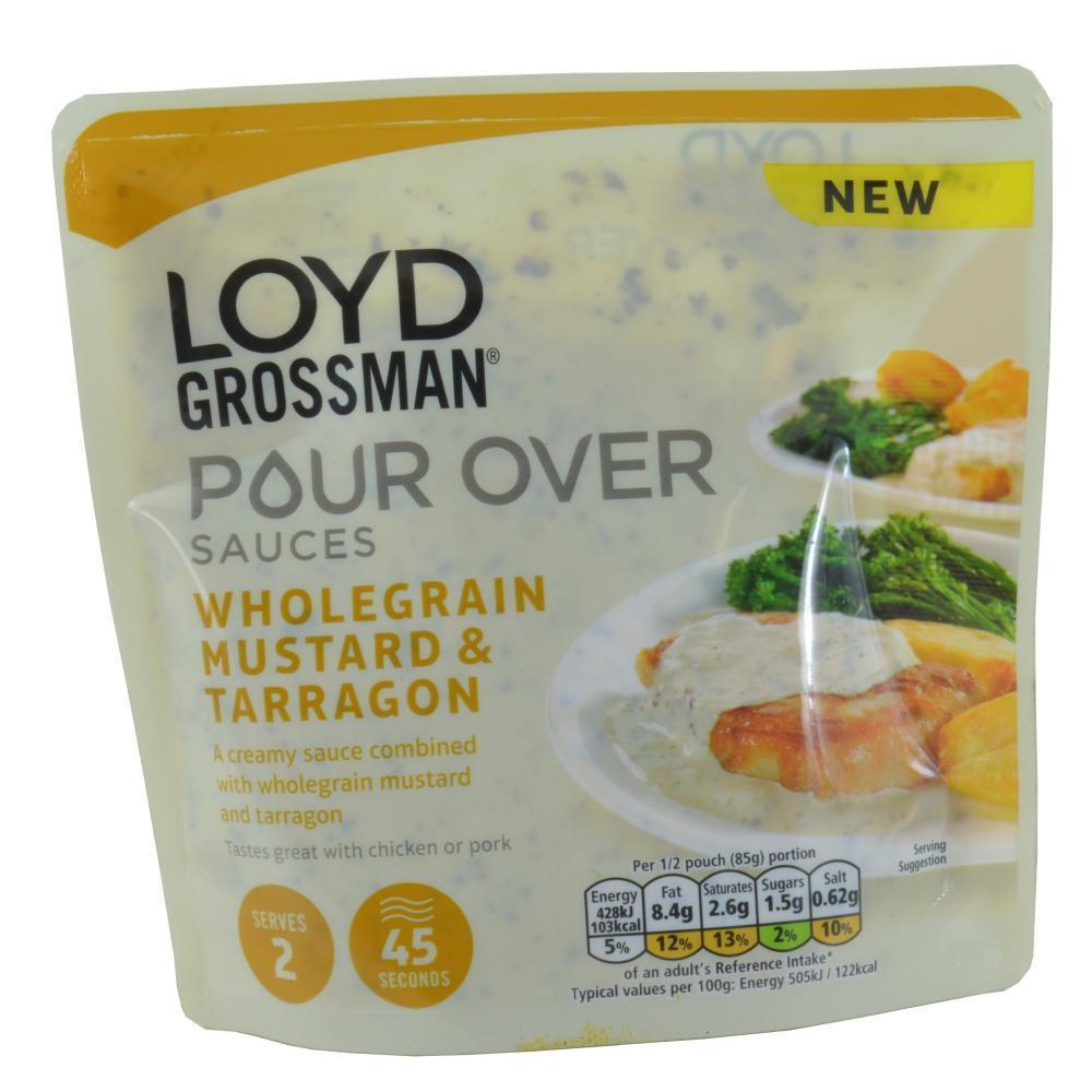 Loyd Grossman Pour Over Sauces Wholegrain Mustard And Tarrafon 170g
