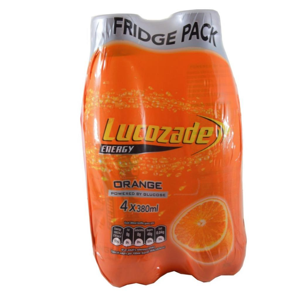 Lucozade Energy Orange 380ml x 4