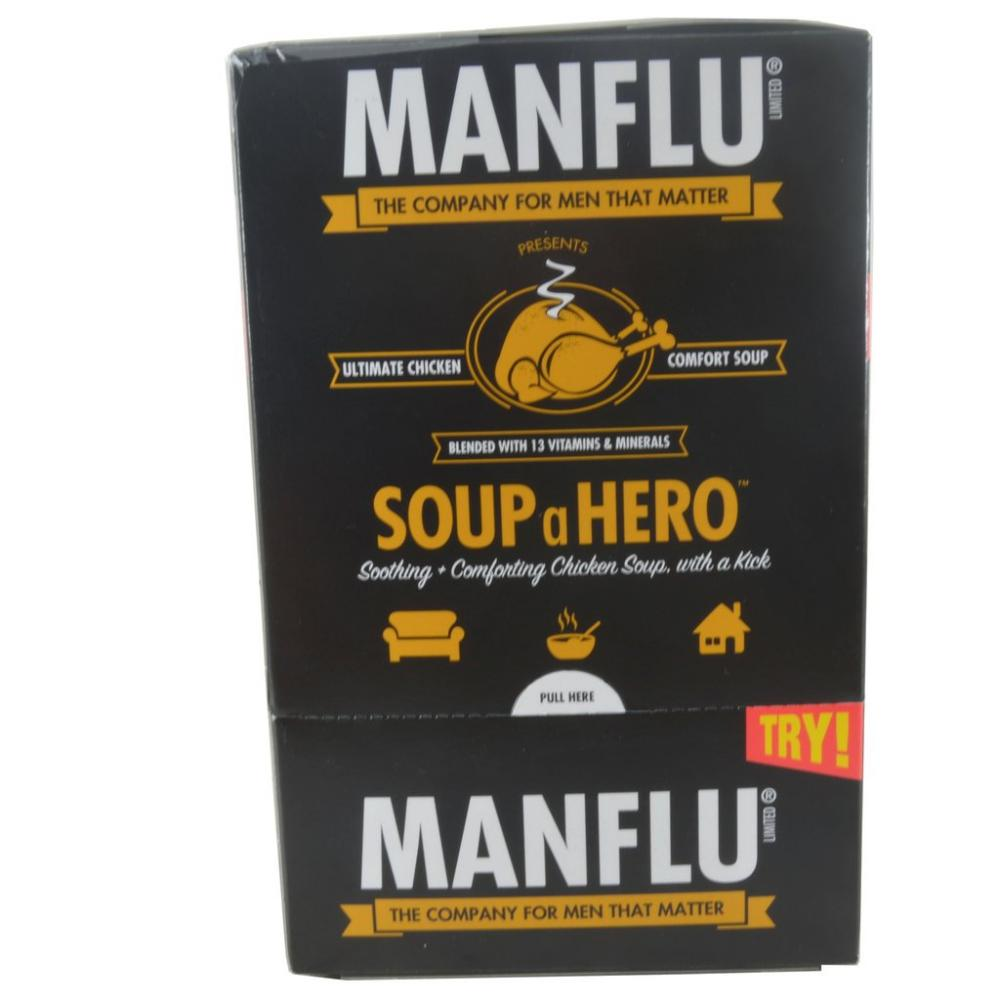 FURTHER REDUCTION  Manflu Instant Chicken Soup with Spice Vitamins and Minerals 8 x 27g