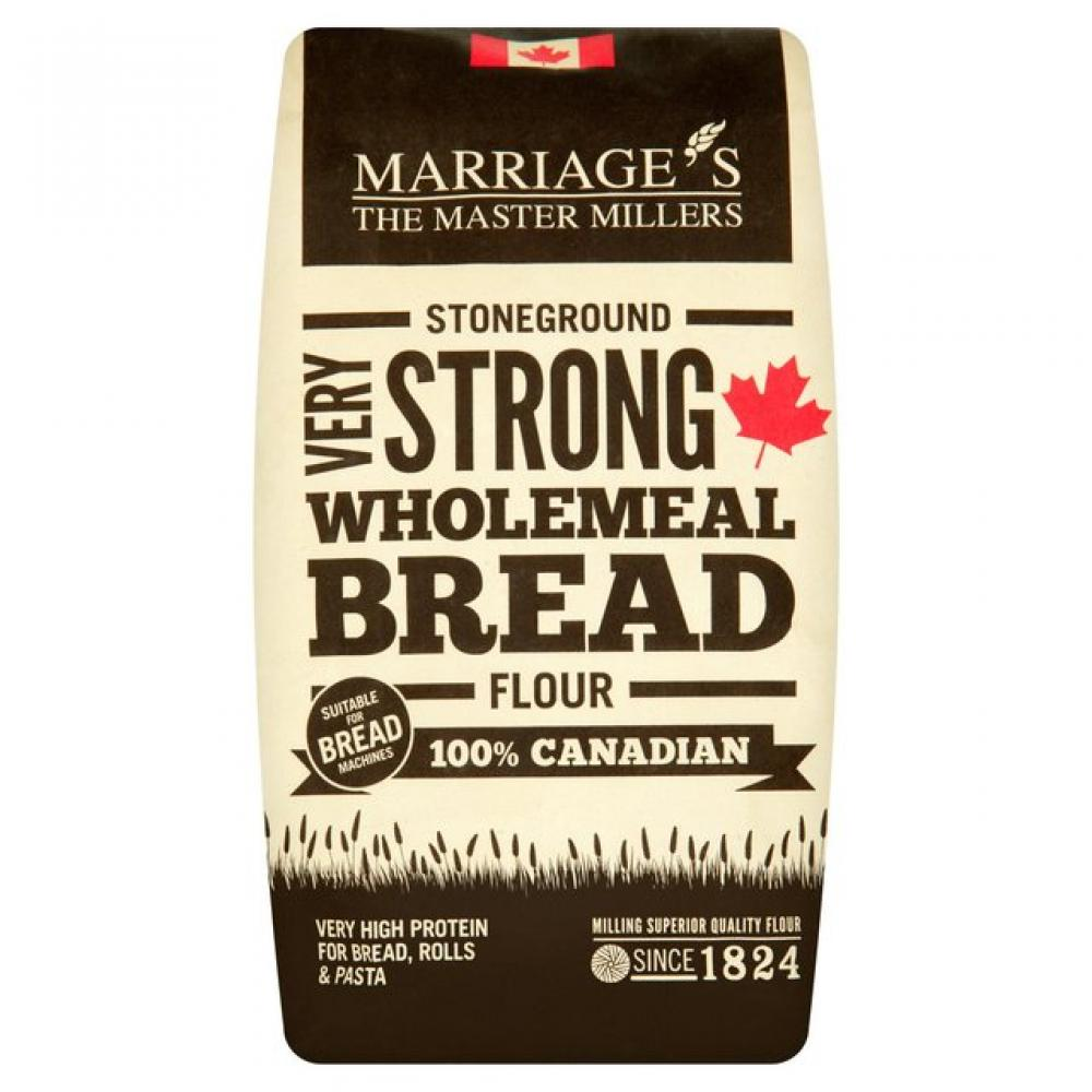 Marriages 100 Percent Canadian Very Strong Wholemeal Flour 1.5Kg