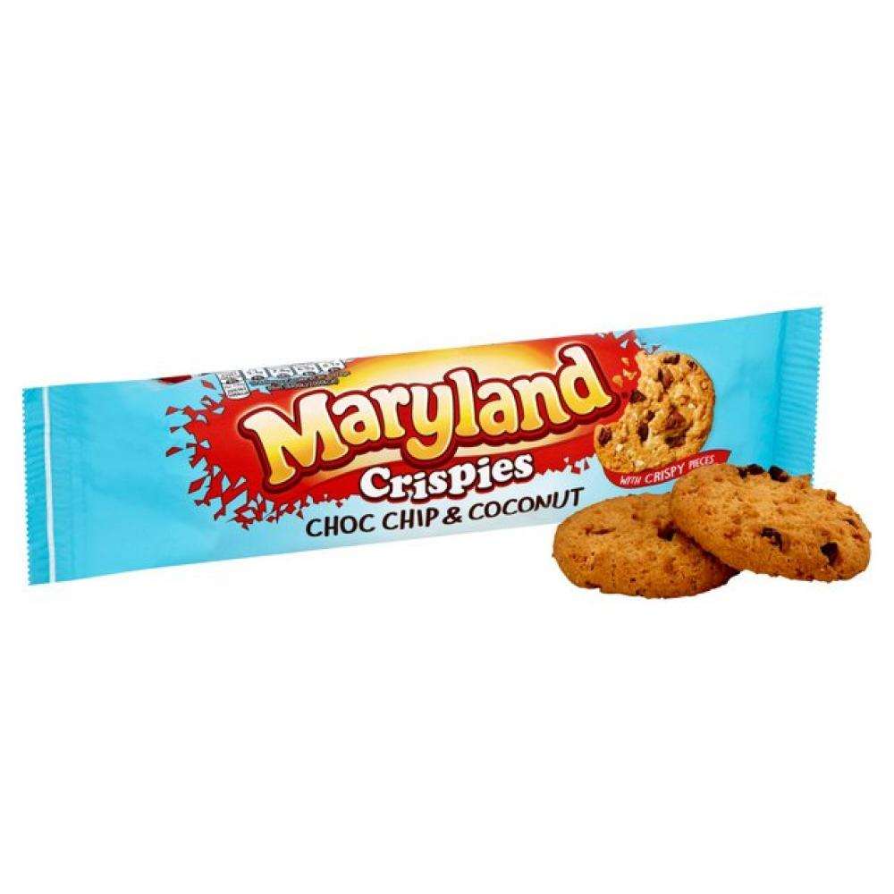 Maryland Crispies Coconut Milk and Dark Choc Cookies 145g
