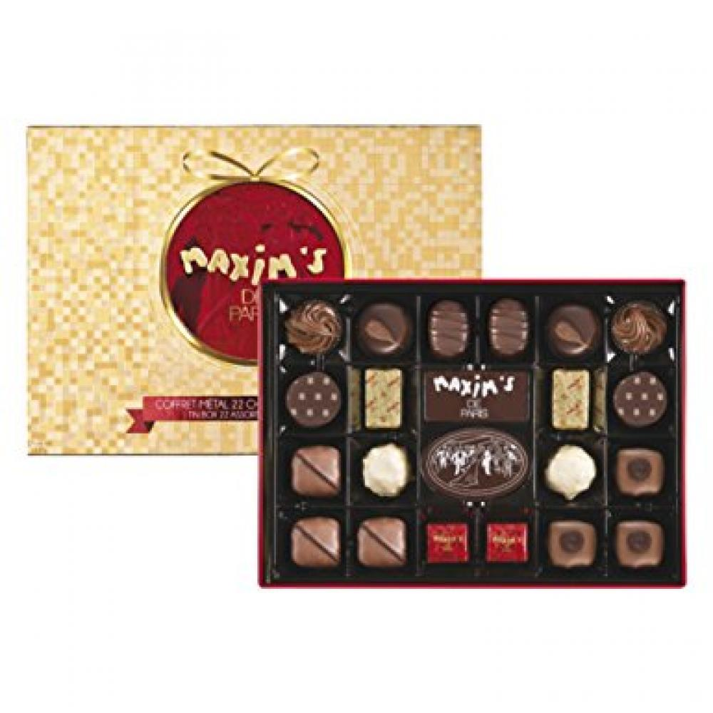 Maxims de Paris Red Tin-22 Assorted Chocolates 215g