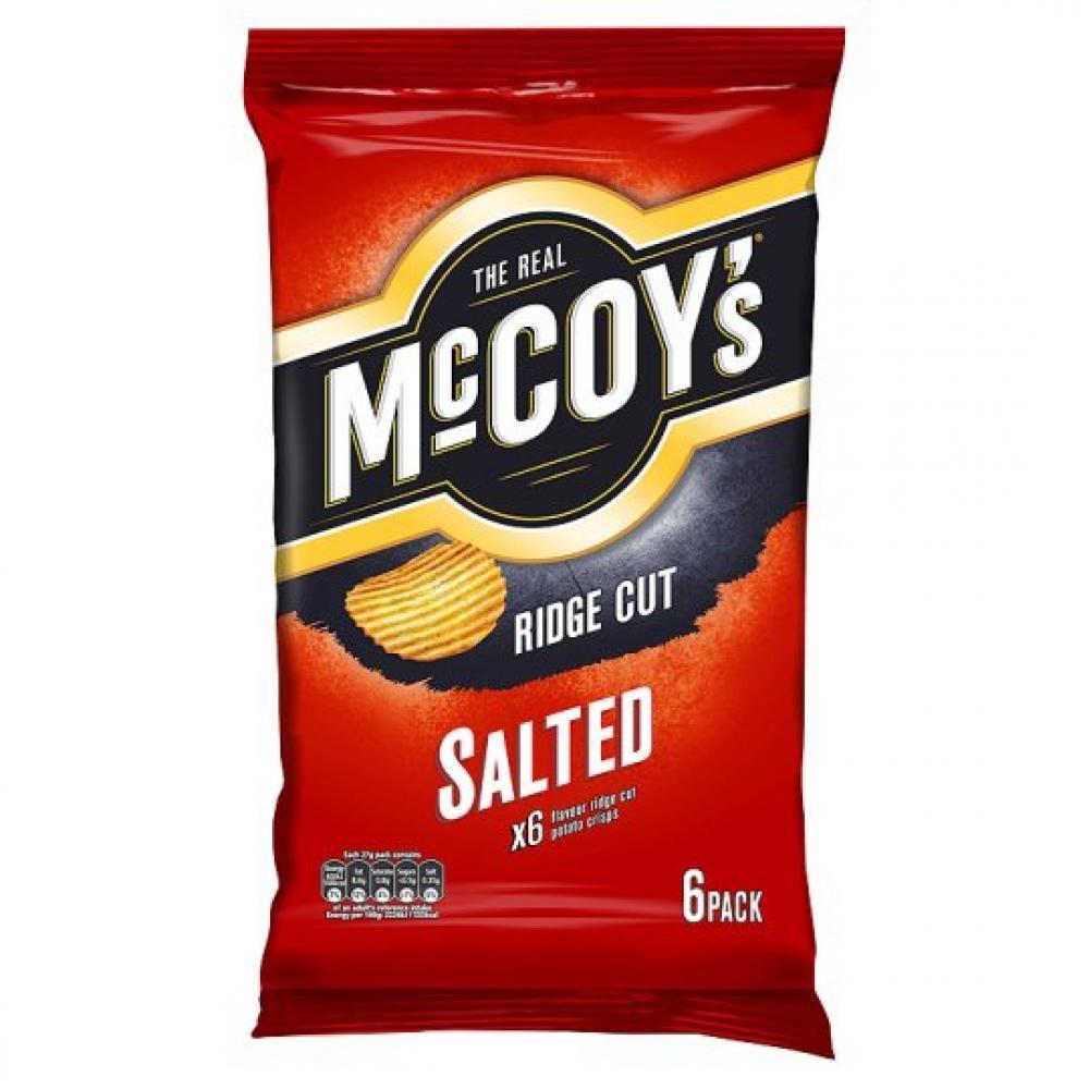 Mccoys Ridge Cut Salted 27g x 6
