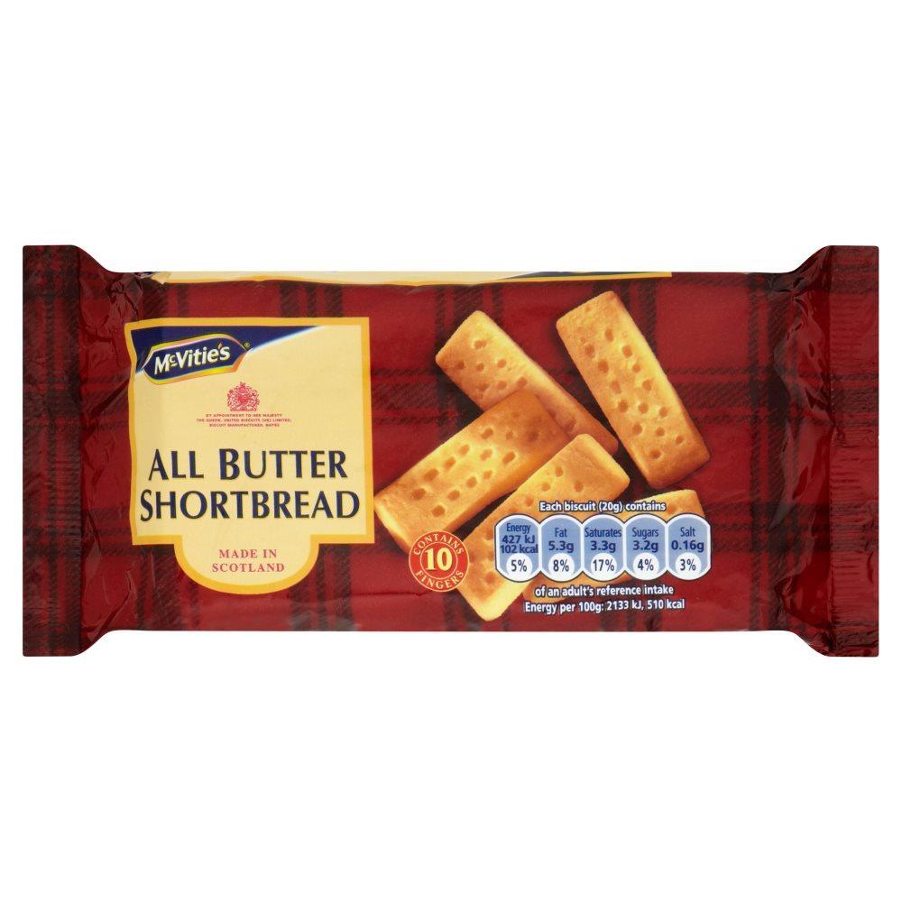 McVities All Butter Shortbread 200g
