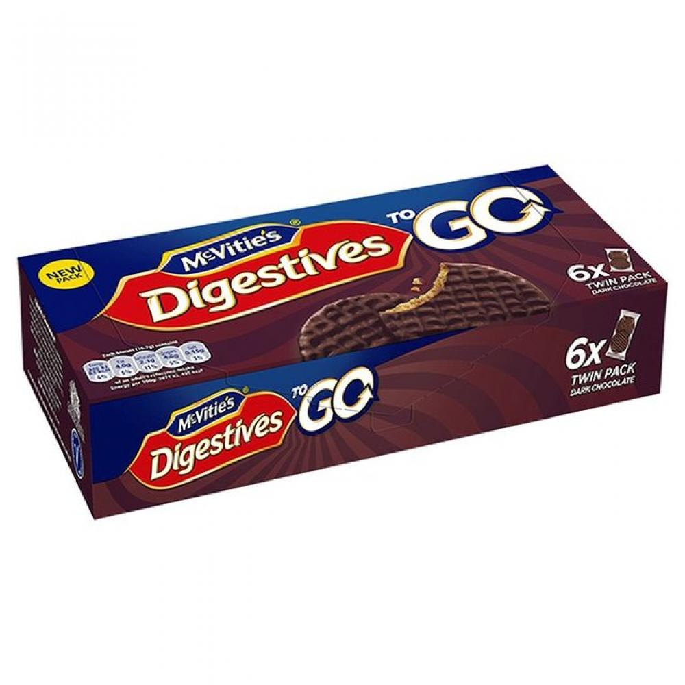 McVities Dark Chocolate Digestives To Go 33g x 6