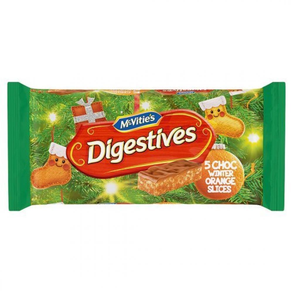 McVities Digestive Choc Winter Orange Slices 124g 5 pack
