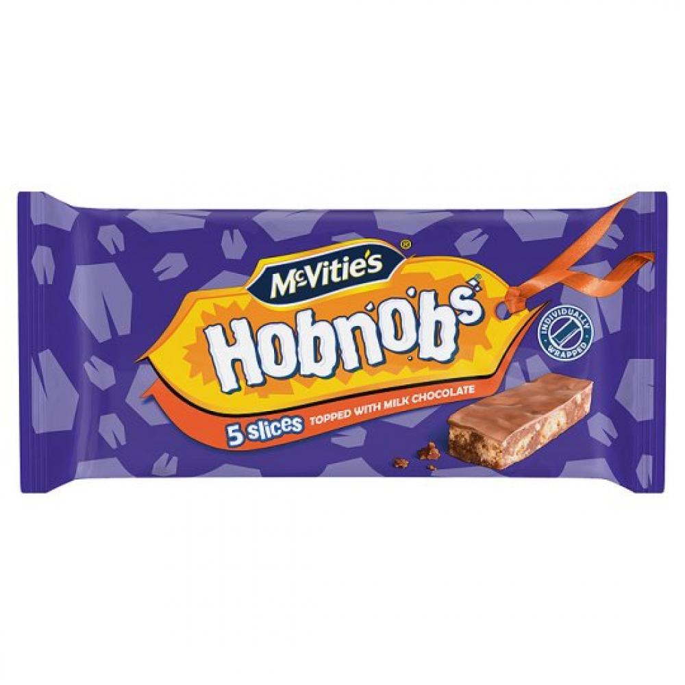 McVities Hobnobs Milk Chocolate Slices 5 pack
