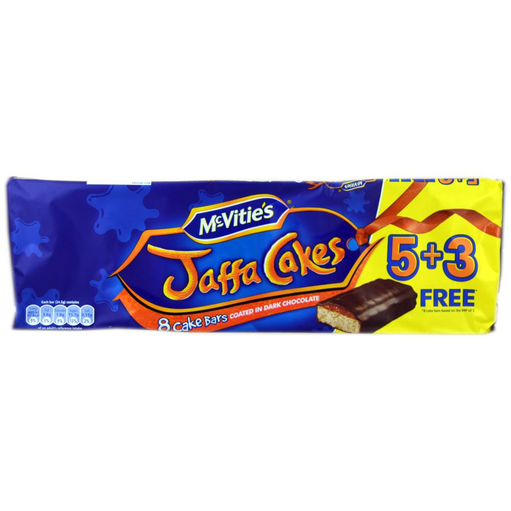 McVities Jaffa Cakes Cake Bar 24.5g x 8