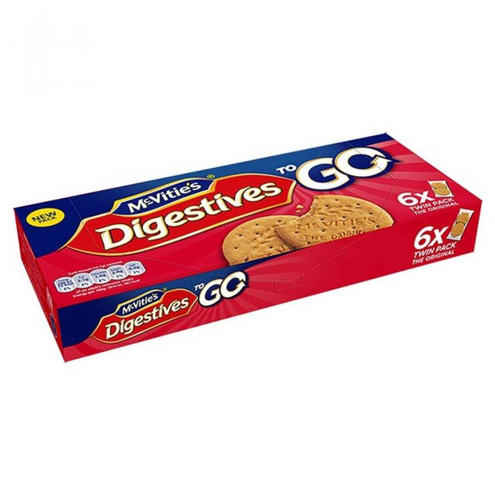 McVities Original Digestives To Go 30g x 6