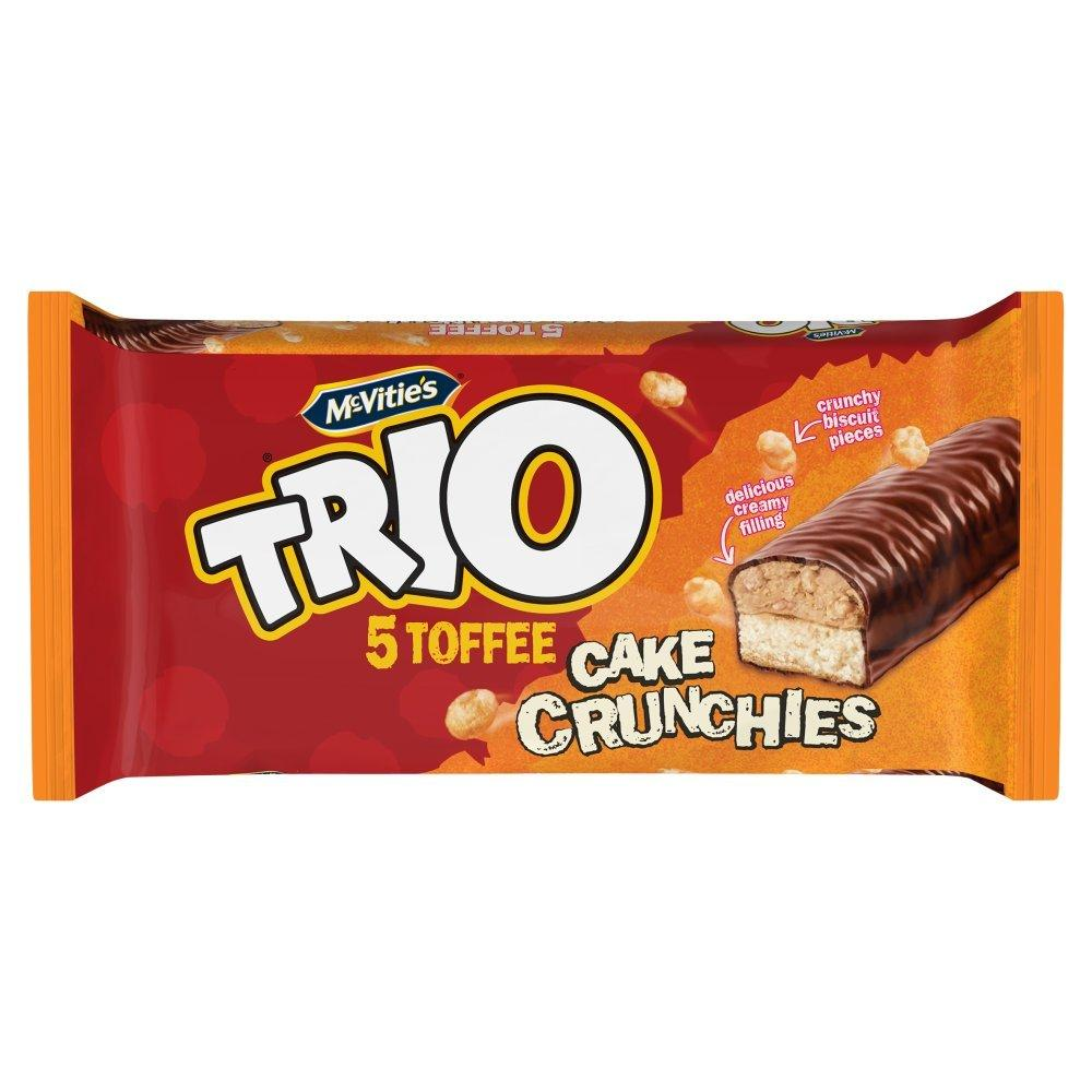 McVities Trio 5 Toffee Cake Crunchies