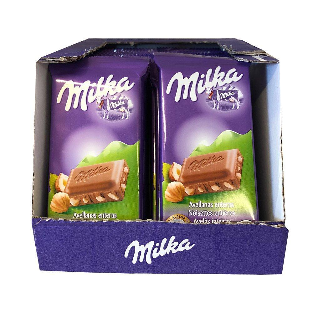 CASE PRICE  Milka Hazelnut Chocolate 45g x 32