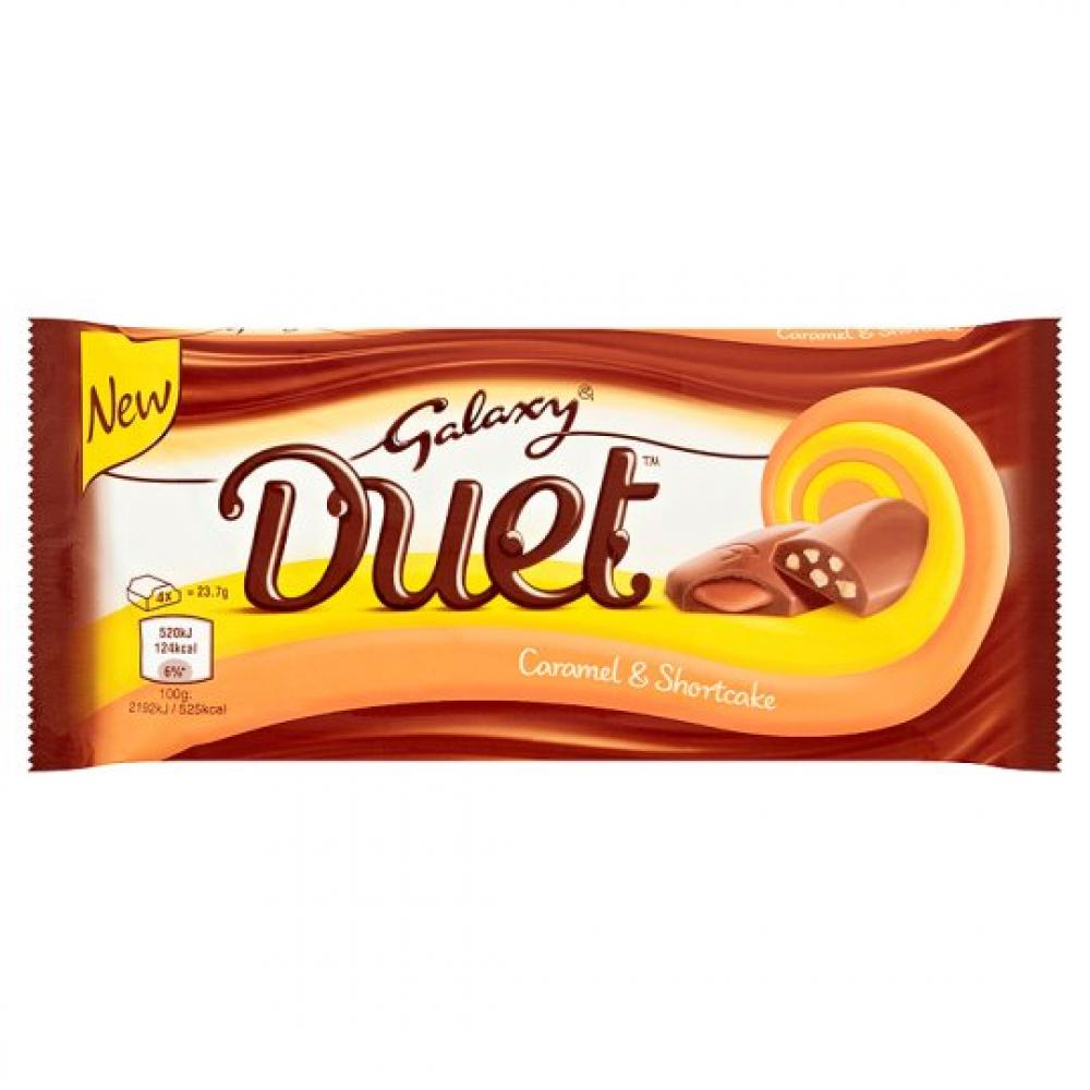 Galaxy Duet Caramel and Shortcake 95g