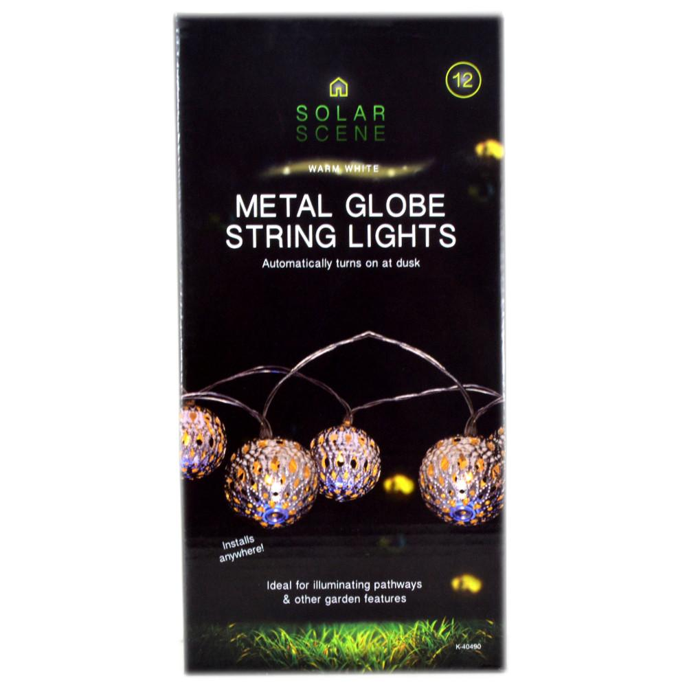 Solar Metal String Lights : Solar Scene Metal Globe String Lights Approved Food