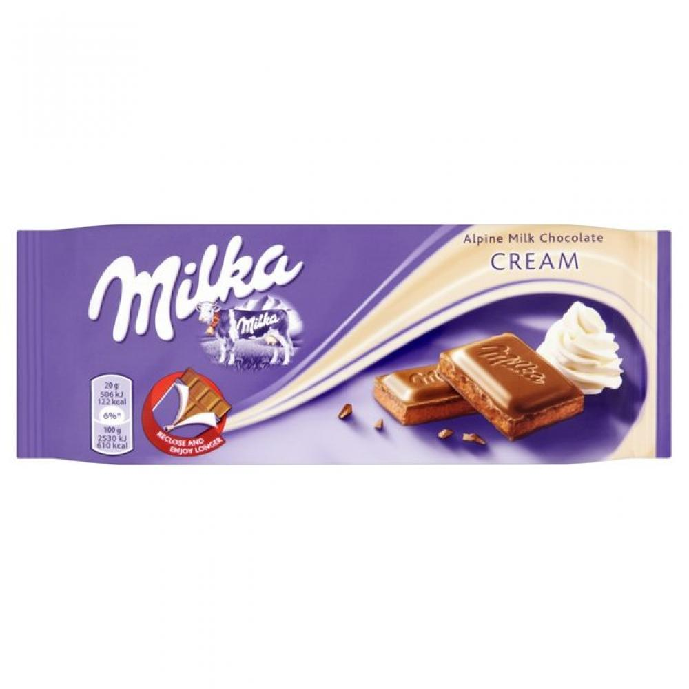 Milka Cream Alpine Milk Chocolate 100g 100g