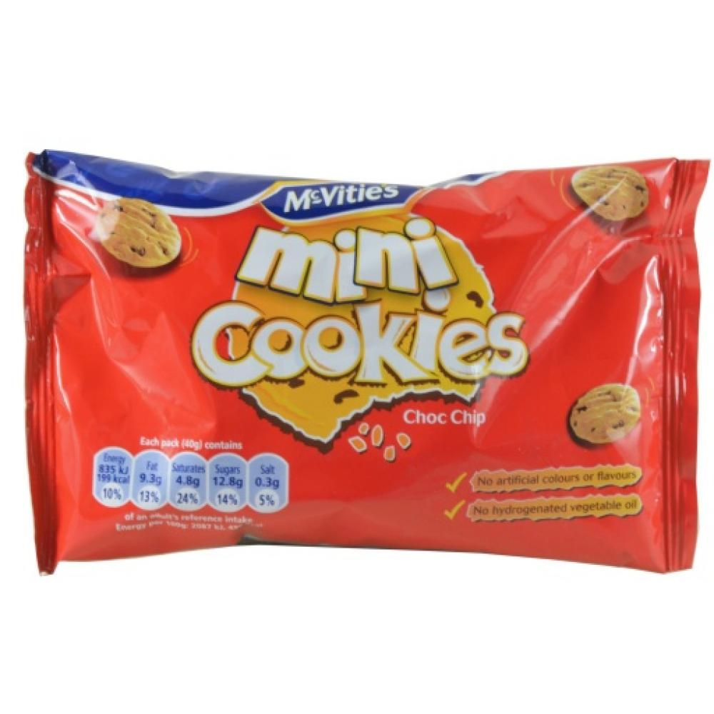 McVities Mini Cookies Choc Chip 40g