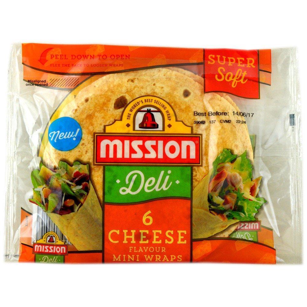 Mission Deli 6 Cheese Flavour Mini Wraps
