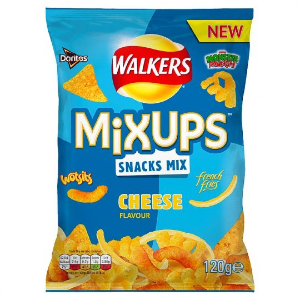 Walkers Mix Ups Snacks Mix Cheese Flavour 120g