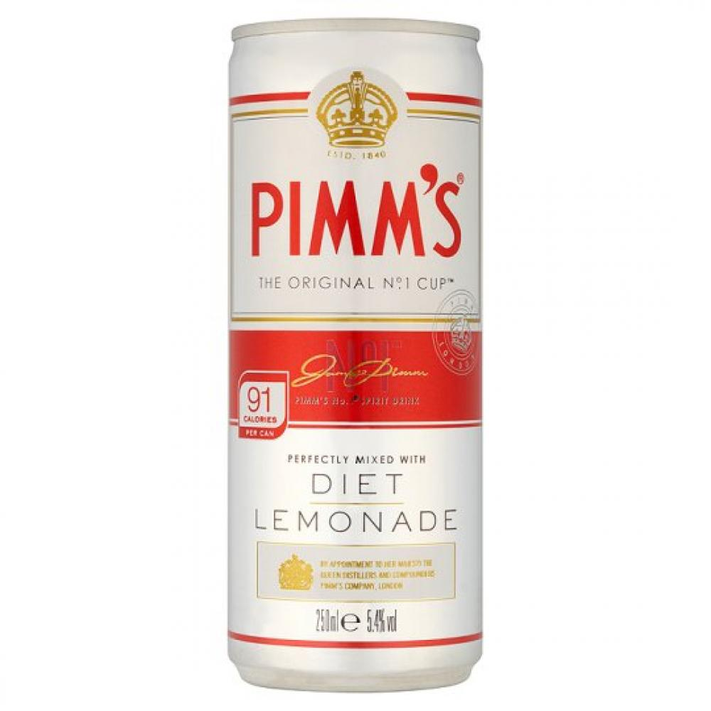 Pimms Mixed With Diet Lemonade 250ml