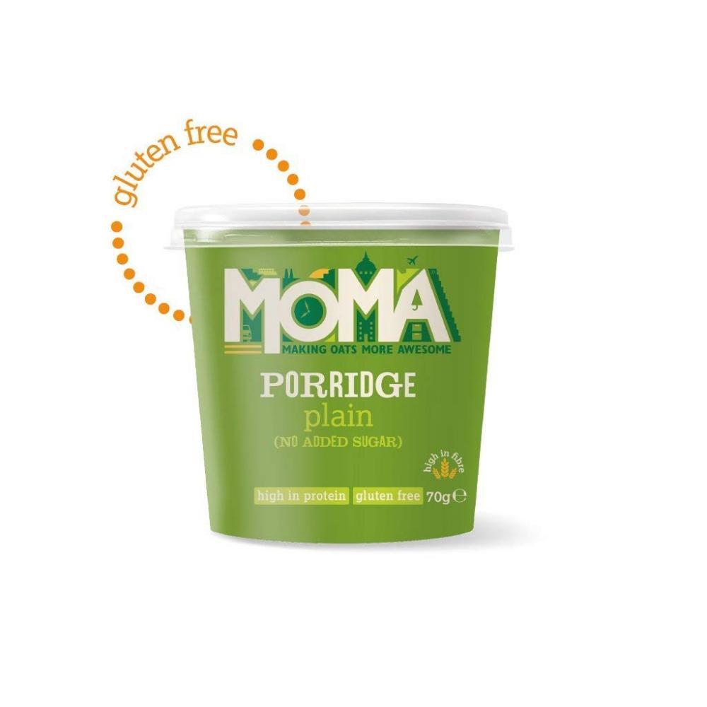 Moma Gluten Free Plain (No Added Sugar) Porridge 70g