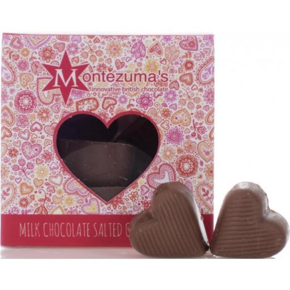 Montezumas Milk Chocolate and Salted Caramel Hearts 120g