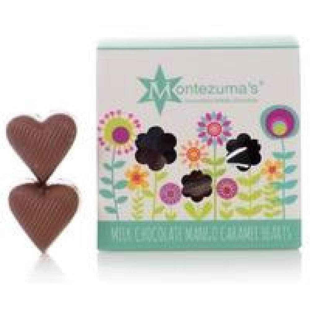 Montezumas Milk Chocolate Mango Caramel Hearts 120g