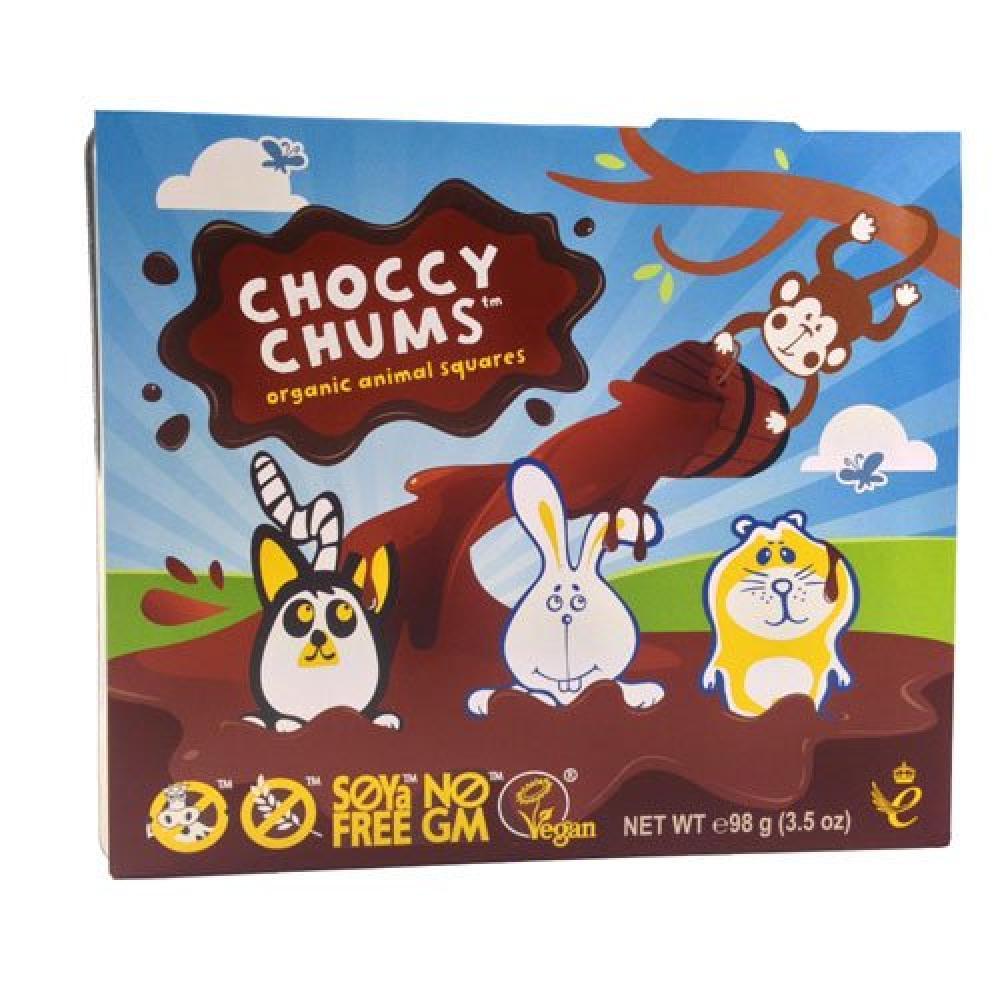 Moo Free Choccy Chums Organic Animal Squares 98g