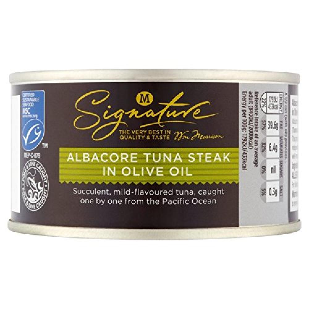 Morrisons Signature Albacore Tuna Steak in Olive Oil 200 g