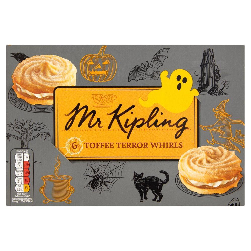 Mr Kipling 6 Toffee Whirls