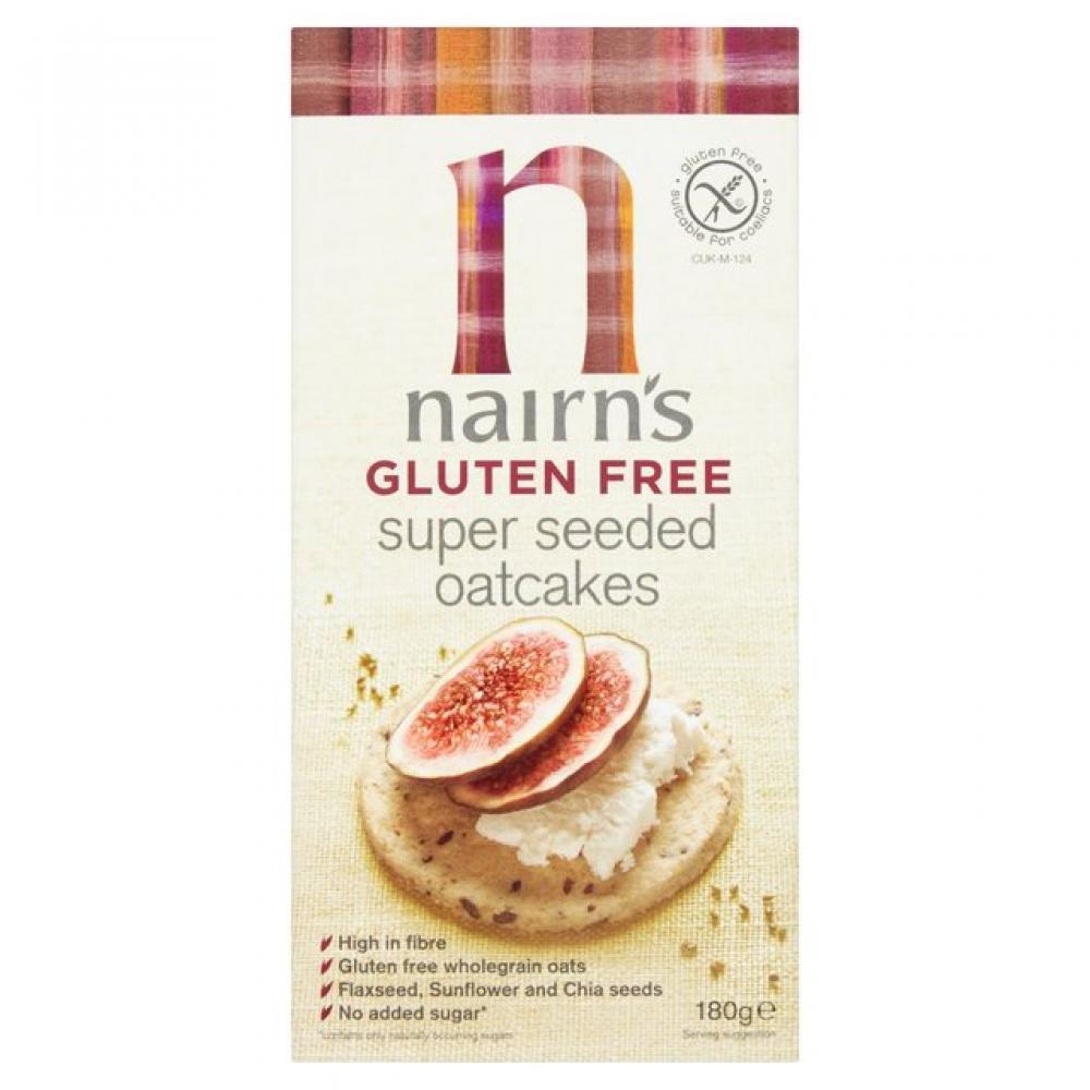 Nairns Gluten Free Super Seeded Oatcakes 180g