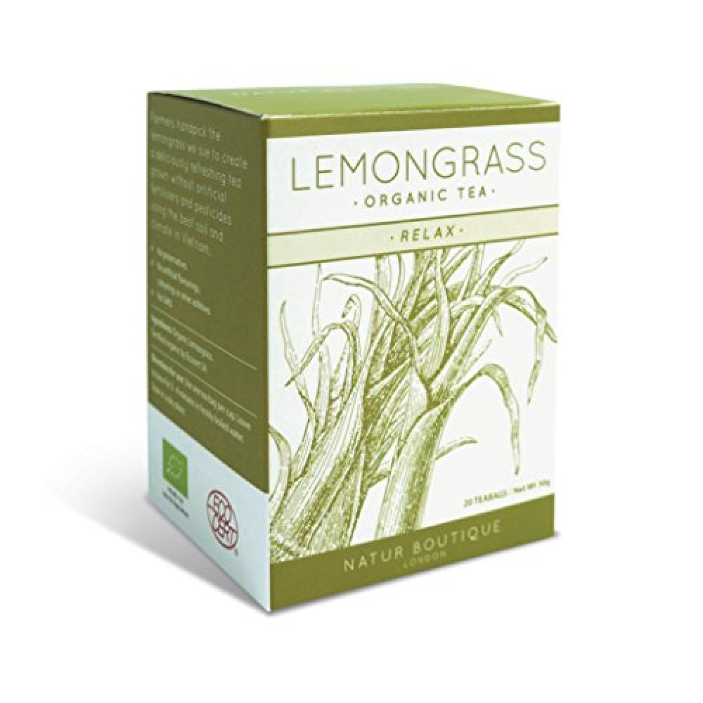 Natur Boutique Organic Lemongrass Tea 20 Sachets