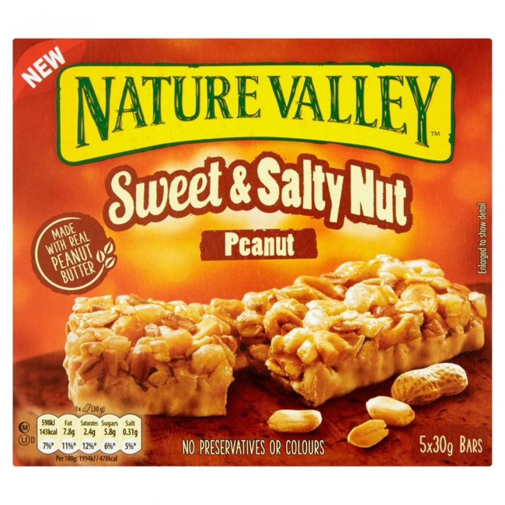 Nature Valley Sweet and Salty Nut Peanut Bar 30g x 5