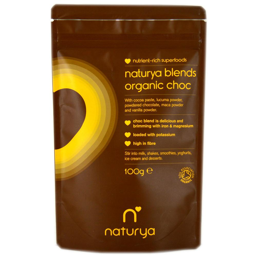 FURTHER REDUCTION  Naturya Blends Organic Choc 100g