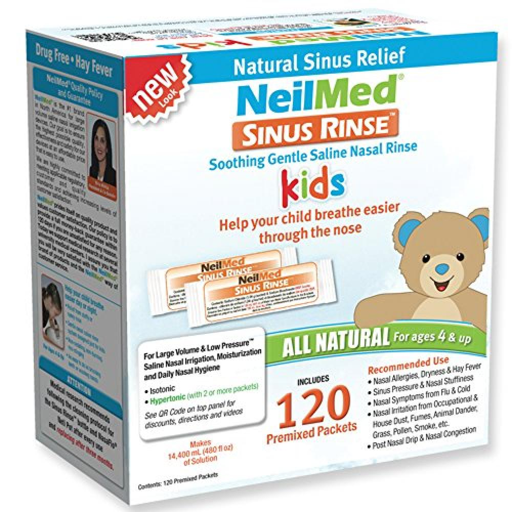 NeilMed Sinus Rinse Premixed Pediatric Refill Packets 120 Packets