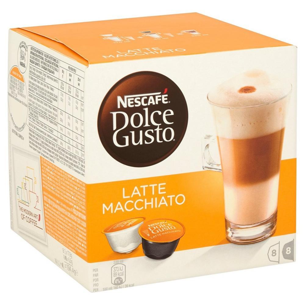 Nescafe Dolce Gusto Latte Machiato Coffee 16 capsules makes 8 drinks