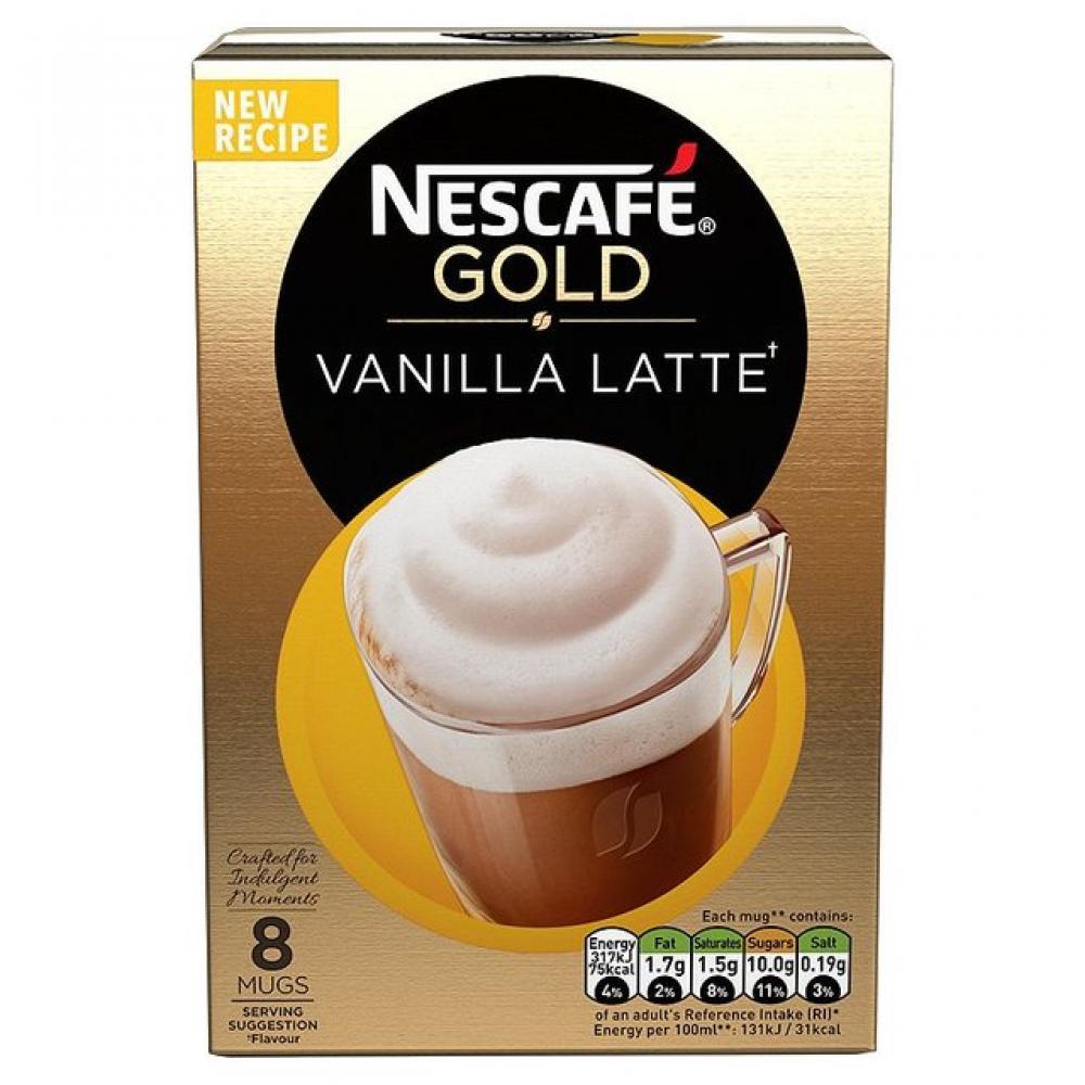 Nescafe Gold Vanilla Latte 8 Sachets 148g