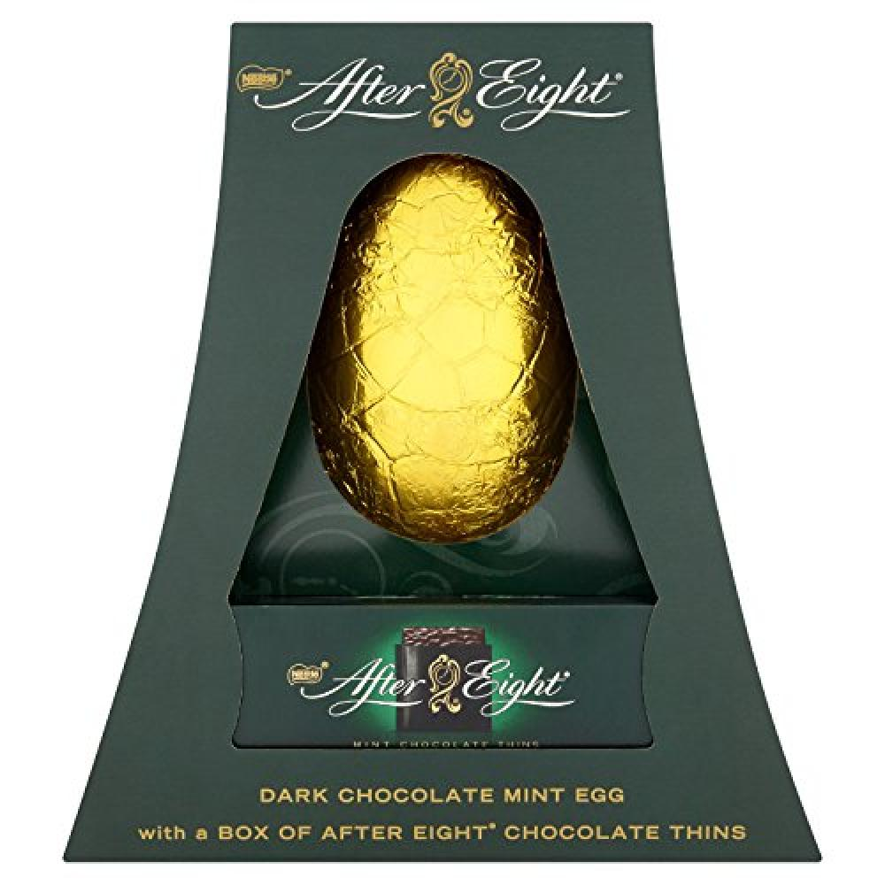 Nestle After Eight Dark Chocolate Mint Egg with a Box of After Eight Chocolate Mint 500g