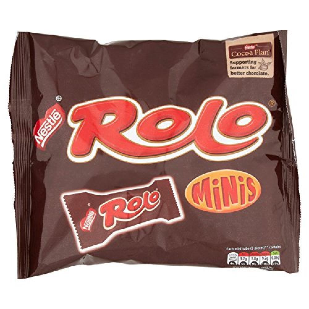 Nestle Rolo Minis Milk Chocolate Tube Bag 280g