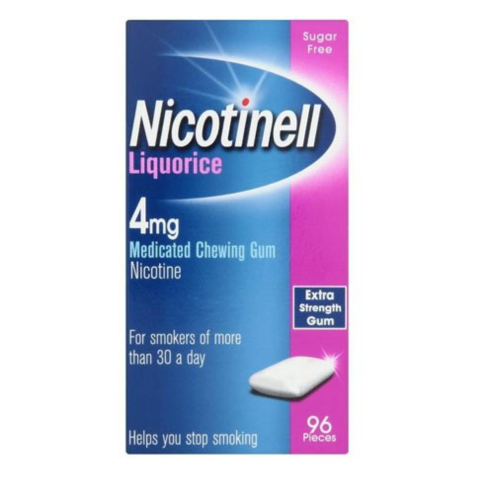 Nicotinell Chewing Gum 4mg Liquorice 96 pieces