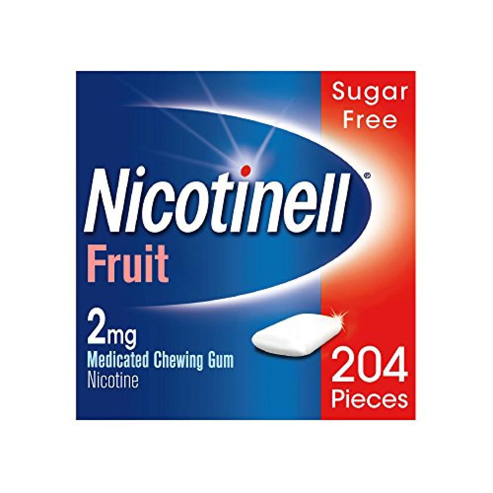 Nicotinell Fruit 2 mg Nicotine Medicated Chewing Gum 204 Pieces