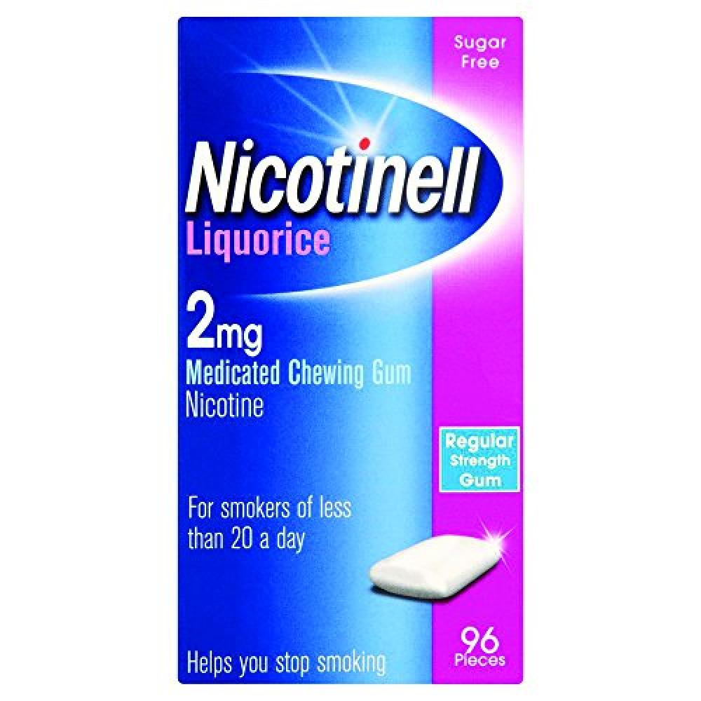 Nicotinell Chewing Gum 2mg Liquorice 96 pieces