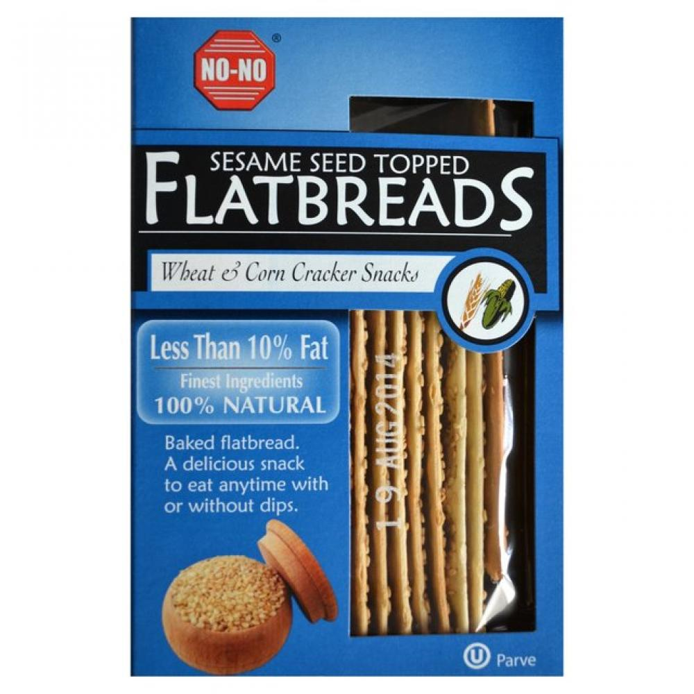 No No Sesame Seed Topped Flatbreads 125g