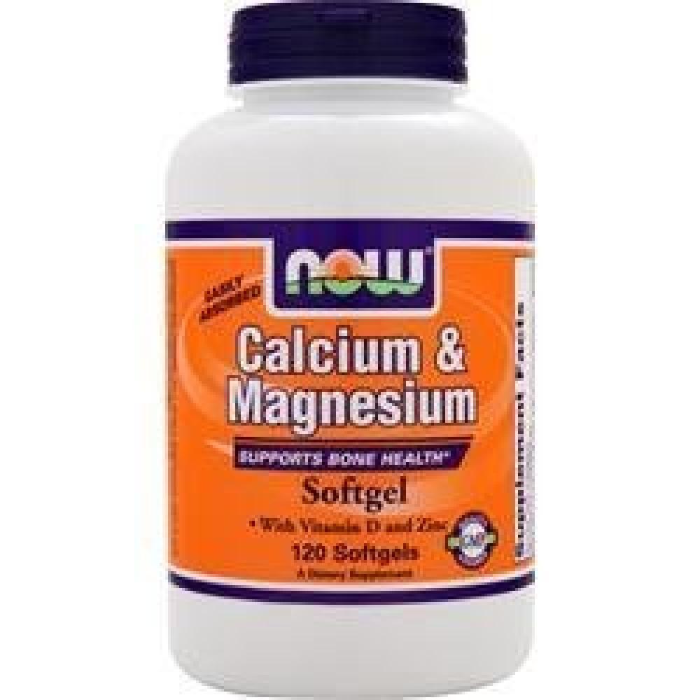Now Calcium Magnesium with Vitamin D and Zinc 120 softgel