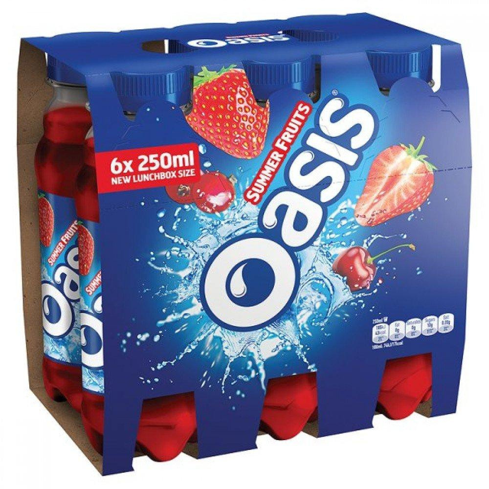Oasis Summer Fruits 250ml x 6