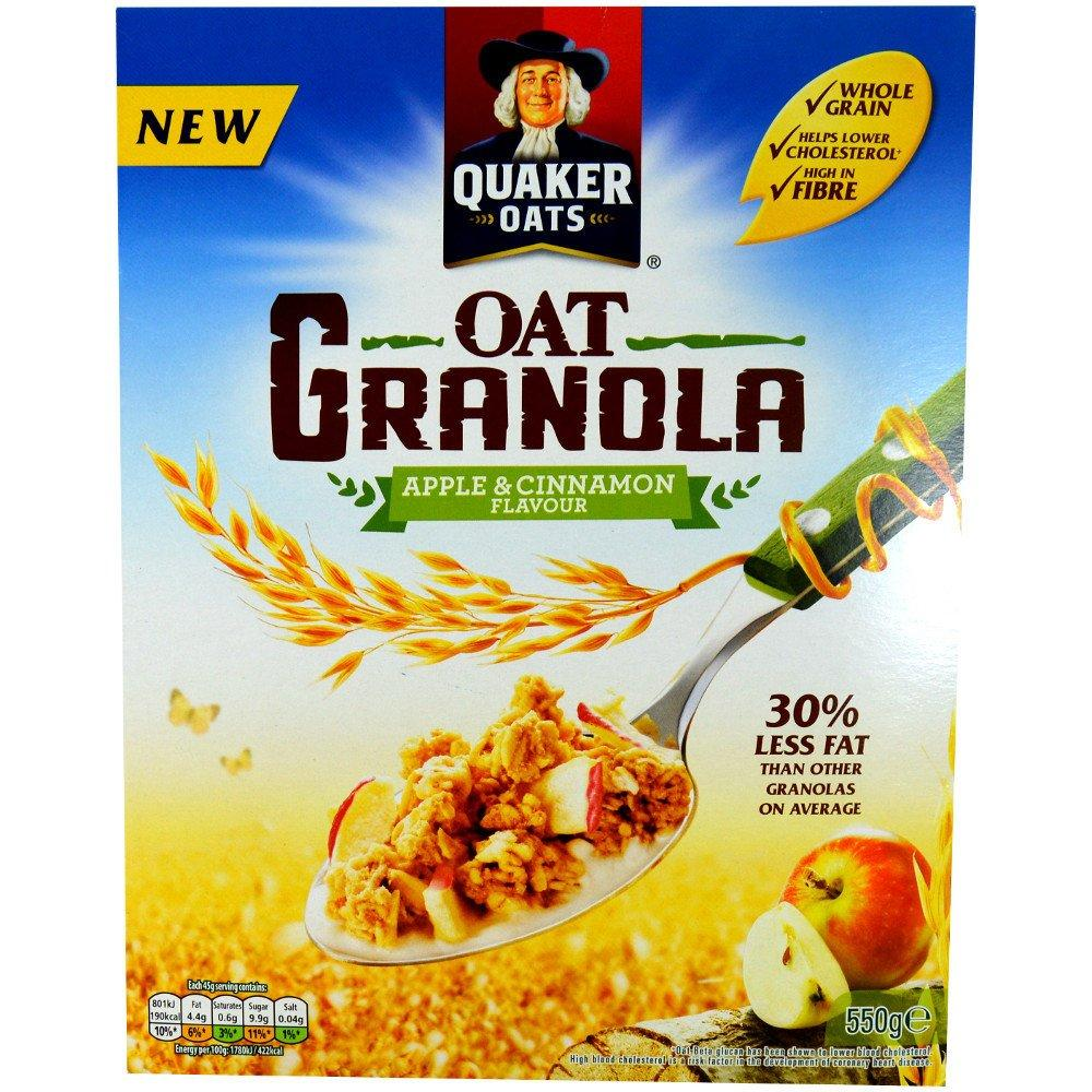 Quaker Oats Oat Granola Apple and Cinnamon Flavour 550g