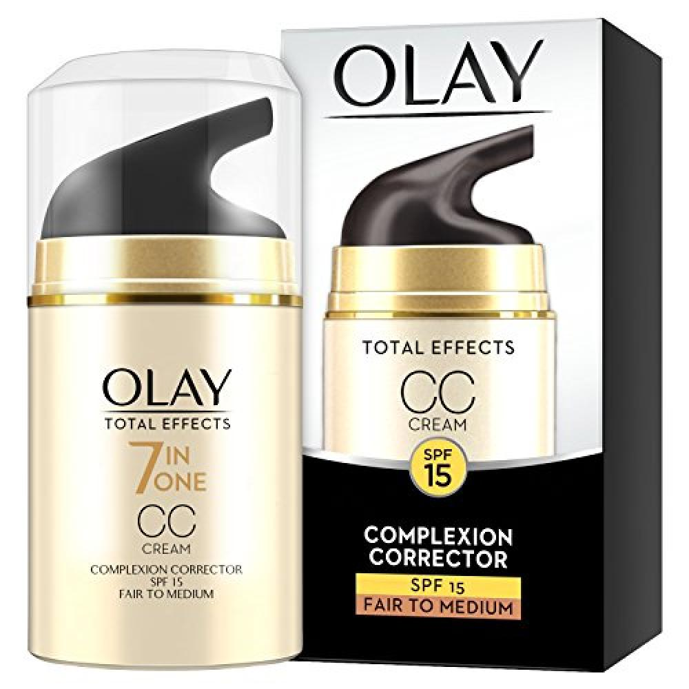 Olay Total Effects Anti-Ageing 7-in-1 Complexion Correcting CC Day Cream Fair to Medium with SPF15 for Even Skin Tone 50ml