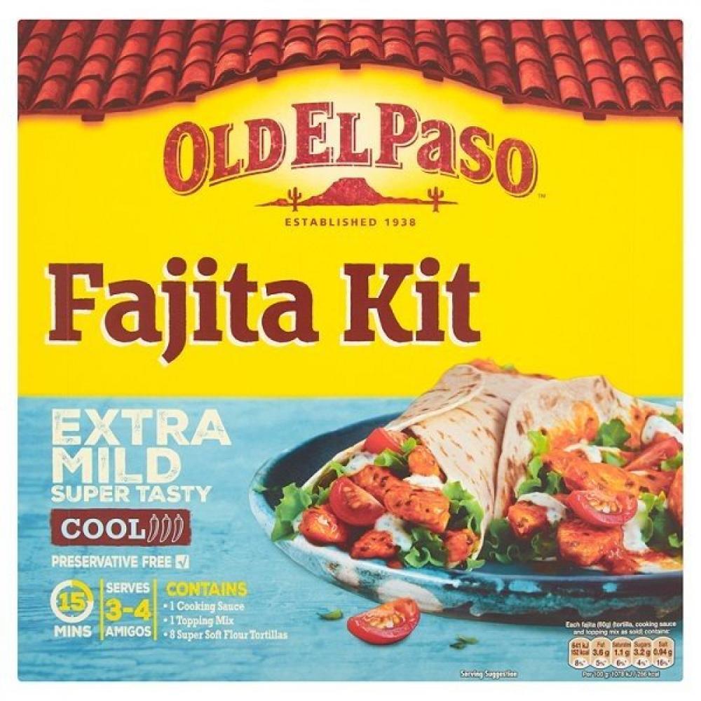 Old El Paso Sizzling Fajita Kit Extra Mild 476g