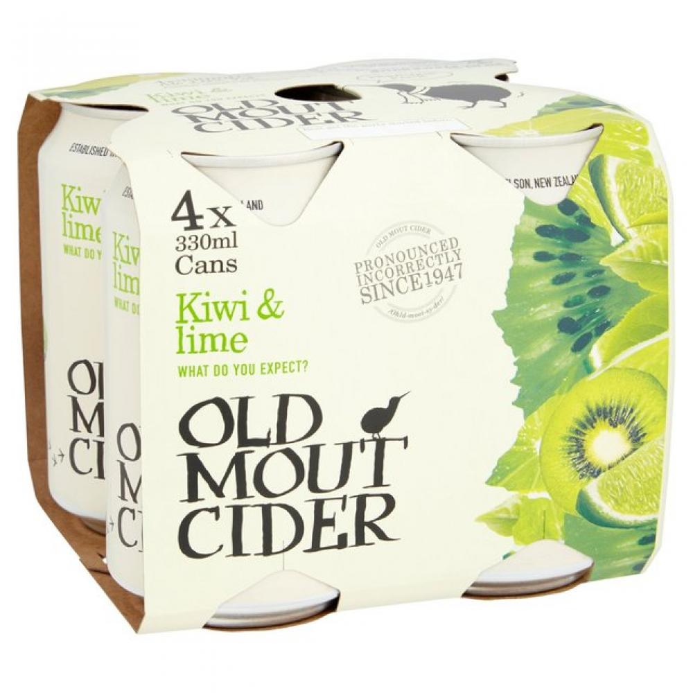 Old Mout Cider Kiwi and Lime 330ml x 4