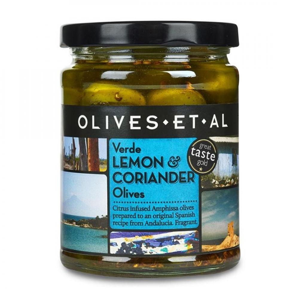 Olives Et Al Verde Lemon and Coriander Olives 250g